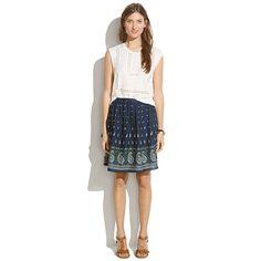 Nomad Paisley Skirt - SKIRTS - Madewell