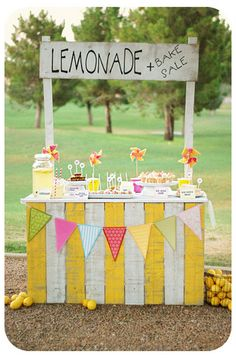 Lemonade stand - great idea