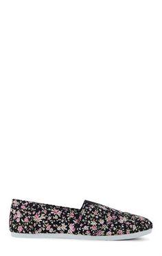 Deb Shops Floral Slip On Shoe $14.50