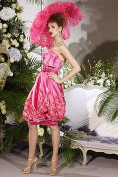 John Galliano Hot Pink Couture