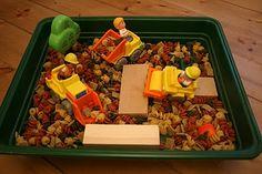 Dry Pasta Construction Sensory Box