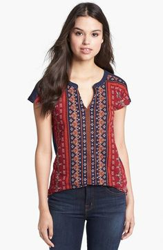 Lucky Brand 'Folklore' Print Top | Nordstrom
