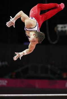Jonathan Horton competes in the high bar during the men's gymnastic artistic final at the North Greenwich Arena during the London 2012 Olympics on Monday, July 30, 2012 in London.