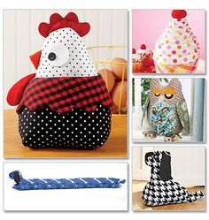 Door Stops craft 2013, pattern cup, sew, artesanato, chicken pattern, door stopper, doorstop patterns, craft projects, rooster pattern
