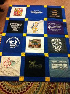 Band t-shirt quilt.
