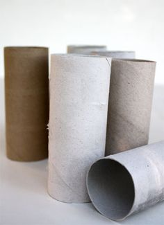 Recycled toilet paper roll idea...