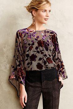 #Velvet Kimono Top #Anthropologie