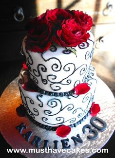 Fondant and Sponge Cake with roses