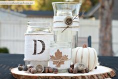 Rustic Fall Centerpiece Tutorial