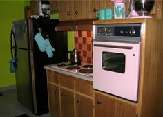 CA. 1961 house with original pink Frigidaire stovetop and oven. Unfortunately, the fridge is long gone but we do have the original pink doub...