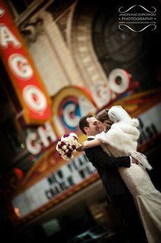 Chicago Theater Wedding Photos  Chicago, Illlinois