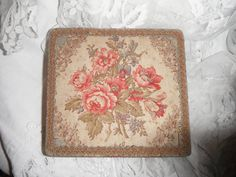 fabric covered boxes | French Antique Box Fabric Covered Roses by FrenchCountryLiving