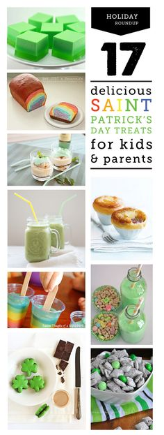 So many great St. Patrick's Day recipes here - definitely gonna make the rainbow bread and/or pudding pops with the kids and the Irish coffe...