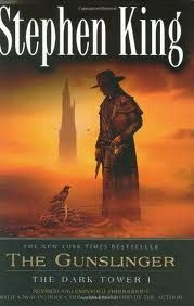 Stephen King's Dark Tower series are fantastic. The Gunslinger is the 1st book. I loved the conversation between Roland and Walter at the end about the passage of time and the size of the universe so much, plus I loved King's afterward. I love the way he admitted he basically wrote Gunslinger having no clue what Roland's past (or future) really was, but that he was sure as hell going to find out. Start with The Gunslinger then enjoy the rest.