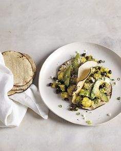 Re-imagine a Mexican scramble: Tofu Scramble with Cotija Cheese and Tortillas, Wholeliving.com
