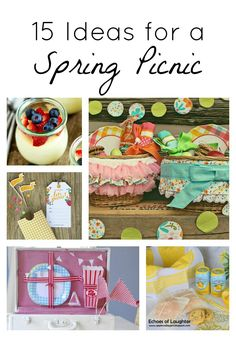 15 Spring Picnic Ideas ...time to enjoy this lovely weather!