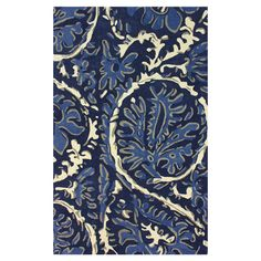 Hand-tufted wool rug with an oversized leaf-inspired motif. 4' x 6' $232