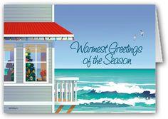 Beach House Boxed Christmas Cards