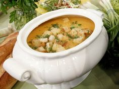 the chew | Recipe  | Cream Of Root Vegetable Soup With Sour Cream