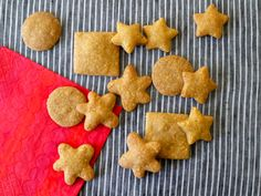 Whole Wheat Cheddar Crackers - claims to be better than store-bought goldfish.  It certainly is healthier, so let's try it and see.  :)