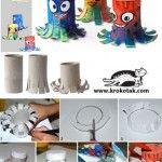 Toilet paper roll art... Cheerful OCTOPUSES