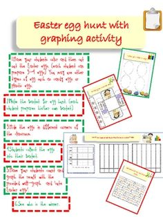 Easter activity including art and craft, counting and graphing. Suitable for Kindergarten level. Children create their own baskets and color their ...