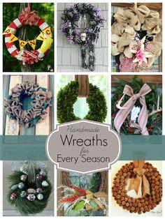 Handmade-Wreaths-For-Every-Season decor, handmad wreath, crafti, season, 563750 pixel, amaz wreath, wreathsdoor hang, diy, craft roundup