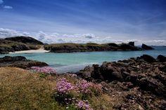 Clachtoll Bay and Split Rock by Derek Beattie