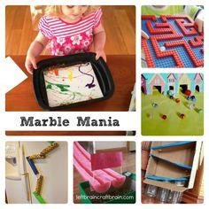 Fun marble games and crafts from leftbraincraftbrain.com