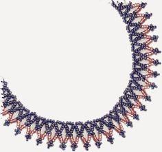 Basic Easy Net Necklace - Free Pattern at Sova-Enterprises.com
