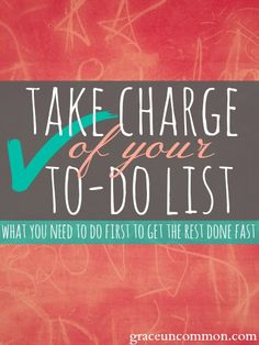 Do you have something on your to-do list that keeps getting pushed to tomorrow? That ONE thing you just don't want to do? There's a secret to getting that one thing done. Find out what it is so you can get it out of your way.