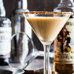 Pumpkin Eggnog Martini made with Captain Morgan Original and Black ...