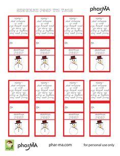 Snowman Poop - Tic Tac Labels