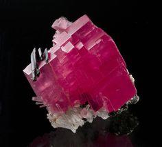 Rodocrosita con hubnerita y Cuarzo - Sweet Home Mine, Bross Monte, Distrito de Alma, en el condado Park, Colorado, EE.UU.