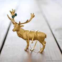 DIY Gilded Animal Figurine Ring Holder Tutorial by creature comforts