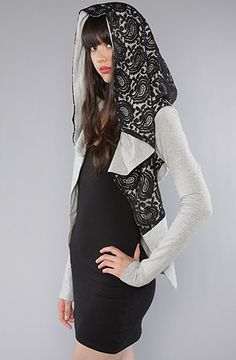 Lace hoody