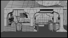 The environment for my female blacksmith to reside in.  The final project for my first year Computer animation course  Concept - http://tchukart.tumblr.com/post/47869485202/smithy-sketch