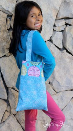 Easy Tote Bag {Kids Sewing Project}
