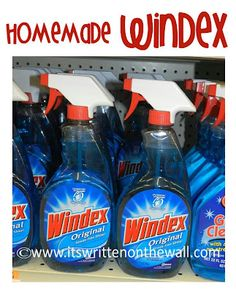 Make your own Windex plus other homemade natural cleaners. See 36 different ones
