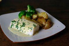 Cabillaud sauce moutarde, potatoes maison