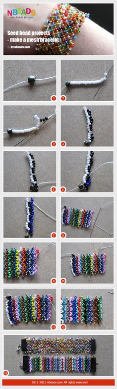 seed bead projects - make a mesh bracelet