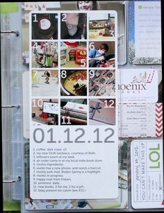 ideas/uses for PL 6x12 page protectors-- her PL is brilliant.