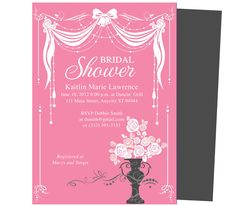 Canopy Bridal Shower Invitation Templates. Easy printable, DIY template invitations for Word, Publisher, Apple iWork Pages. Customize text to your desire.