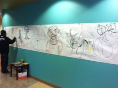 IAIA Community Mural facilitated by SWC Art Therapy Intern, Linnea. www.iaia.edu communiti mural