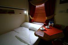 «Grand Express» train. Interior of passenger car