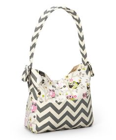 Look at this Brownie Gifts Creamy Owls Diaper Bag on #zulily today!