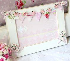 Cottage Chic Photo Bunting Frame Cottage Style Baby Girl