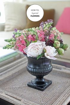 How-To: Layered Flowers | Read more - http://www.stylemepretty.com/living/2013/06/07/how-to-layered-flowers/