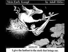 I give the hotfoot to the stork that brings me