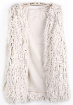 Oyster Faux Fur Long Vest